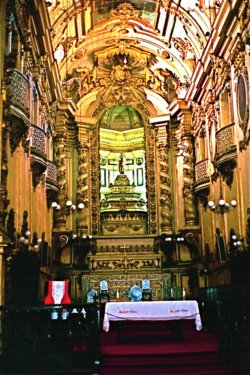Inside of church looking toward altar